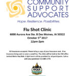 CSA Hosts Flu Shot Clinic October 5th