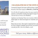 CSA Announces Legislative Day March 1, 2018